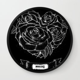 """""""Like roses, we blossom and die"""" Wall Clock"""
