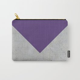 Purple & Grey Concrete Carry-All Pouch