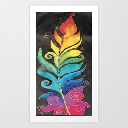 Winter Feather Art Print