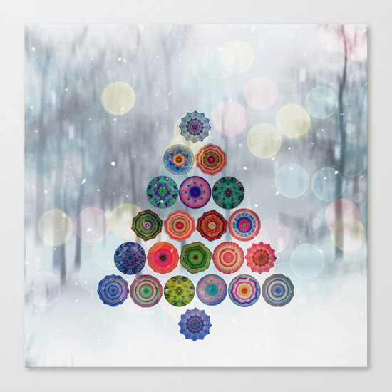 Abstract Christmas Tree Canvas Print