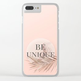 Be Unique Clear iPhone Case
