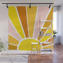 Sun Ray Burst Wall Mural