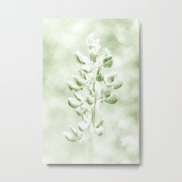 Lupine in Vintage color #decor #society6 Metal Print