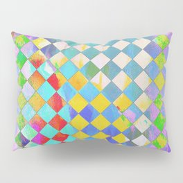 Color washed checkers Pillow Sham
