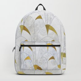 Gold Marble Deco Arch Backpack
