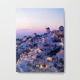 Sunset in Oia, Greece #society6 #decor #buyart Metal Print