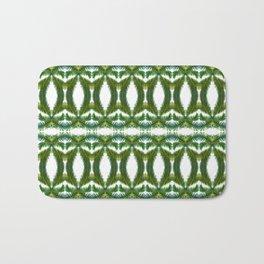 Palm Leaf Kaleidoscope (on white) #2 Bath Mat