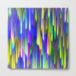 Colorful digital art splashing G394 Metal Print