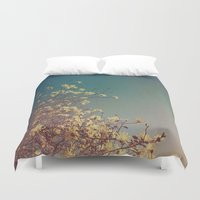 woodstock Duvet Covers featuring Head in the Clouds by Olivia Joy StClaire