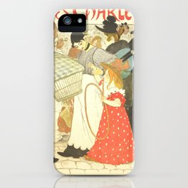 "Théophile Steinlen ""The Street (La rue), poster for the printer Charles Verneau"" iPhone Case"