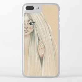 Messy hair dont care Clear iPhone Case