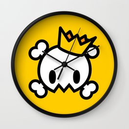 King Skull Wall Clock