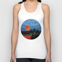 budapest Tank Tops featuring Budapest Super Moon by Andras Wobe Kocsis