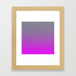GET LOST - Minimal Plain Soft Mood Color Blend Prints Framed Art Print
