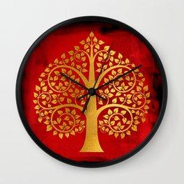 Bodhi Tree0109 Wall Clock