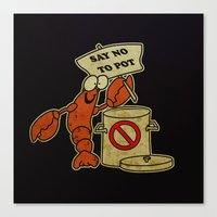 lobster Canvas Prints featuring Lobster by Barbo's Art