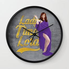 Lady Time Lord Wall Clock