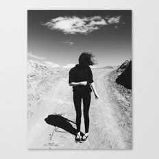 Windy Hair Canvas Print