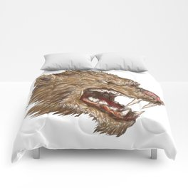 Head with sharp teeth Comforters