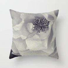 Black & White Rose Throw Pillow