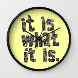 What It Is Wall Clock