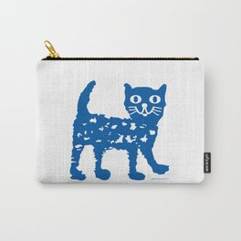 Navy blue cat pattern Carry-All Pouch