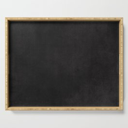 Simple Chalkboard background- black - Autum World Serving Tray