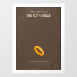 No638 My The Sixth Sense minimal movie poster Art Print