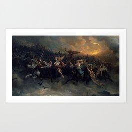 Peter Nicolai Arbo The Wild Hunt Of Odin Restored Art Print