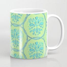 Medallion Lattice Blue Coffee Mug