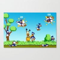 donald duck Canvas Prints featuring Donald Duck Hunt by VGPrints