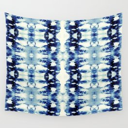 Tie Dye Blues Wall Tapestry
