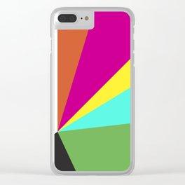 Geometric Colors Clear iPhone Case