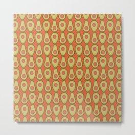 Avocado Orange Metal Print