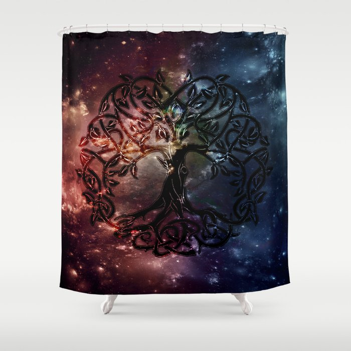 Viking Tree Of Life Shower Curtain