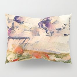 Stormy Landscape Purple Orange by CheyAnne Sexton Pillow Sham