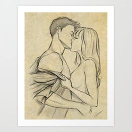 valentine kiss #10 Art Print