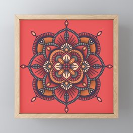 Red Mandala Framed Mini Art Print
