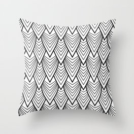 scales in black and white Throw Pillow