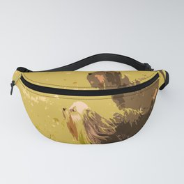 Dog's Running Race Fanny Pack