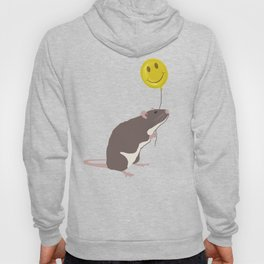 Rat with a Happy Face Balloon Hoody