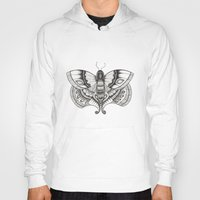 moth Hoodies featuring MOTH by silb_ck