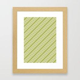 shortwave waves geometric pattern Framed Art Print