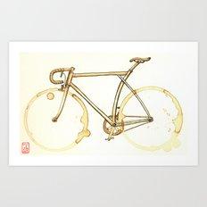 Coffee Wheels #09 Art Print