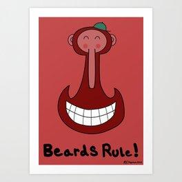 Beards are Cool Art Print
