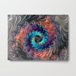 Grand Spiral fractal by Amanda Martinson Metal Print