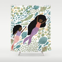 Mermaids and Fish in the Ocean Shower Curtain