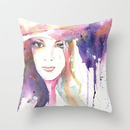 Girl ASD 03 Throw Pillow