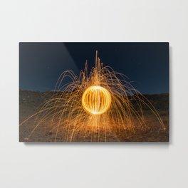 Sphere of Sparks Metal Print
