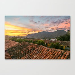 Rooftop Sunset Canvas Print